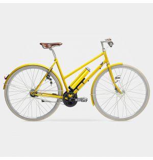 Arrow Electric Ladies Bike in Traffic Yellow