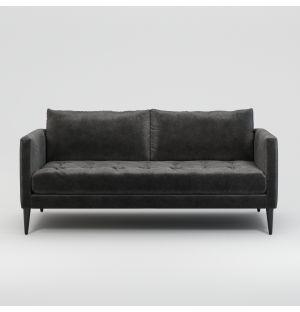 Lennox 2-Seater Sofa in Slate Velvet