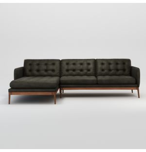Elgin Button Corner Sofa Left Facing