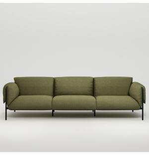 Fold 3-Seater Sofa with Arms