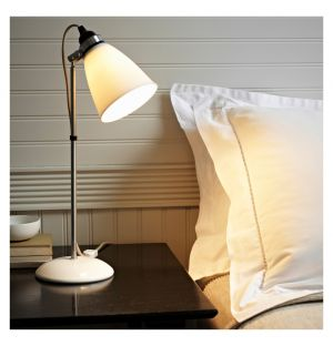 Hector Dome Table Lamp White Medium