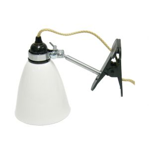Hector Medium Dome Clip Light White
