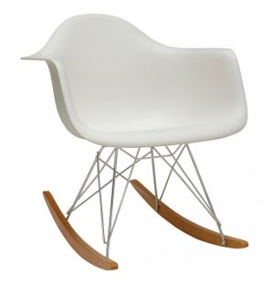 RAR Plastic Armchair Golden Maple Base