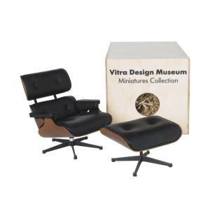 Miniature Eames Lounge Chair & Ottoman