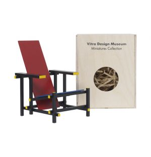 Miniature Rietveld Red & Blue Chair