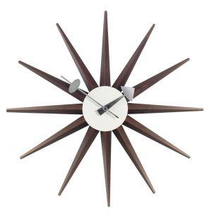 Sunburst Clock Walnut