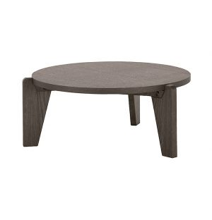 Guéridon Bas Table Dark Smoked Oak