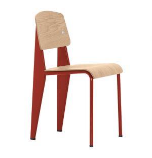 Standard Chair Red & Oak