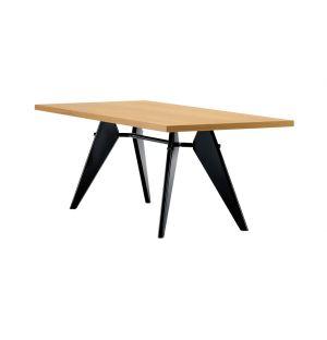 EM Table Solid Natural Oak & Black