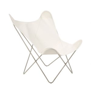 Butterfly Chair White & Chrome