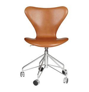 Series 7 Swivel Chair Grace Leather Walnut