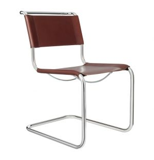 S 33 Chair Brown Leather