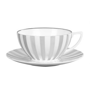 Wedgwood Platinum Striped Teacup