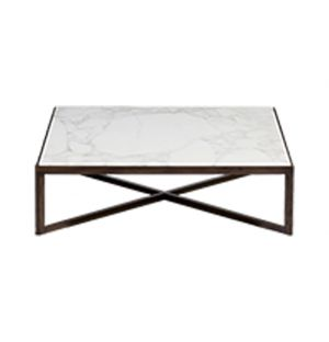 Krusin Coffee Table Walnut Stained Oak & Calacatta Marble Top