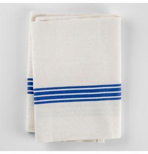 Cotton & Linen Tea Towel Blue Stripe