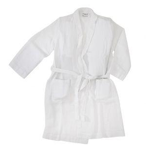Linen Waffle Bath Robe White Large/Extra Large