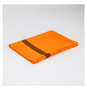 Striped Linen Tea Towel Orange