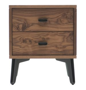 McQueen Bedside Chest Walnut