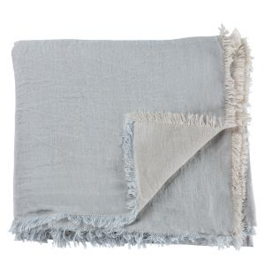 Vice Versa Linen Throw Pearl