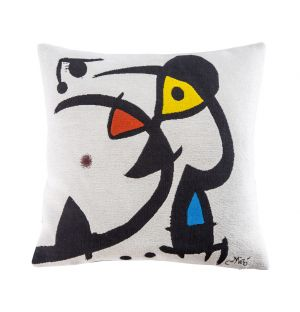 Miró 'White' Cushion Cover 45cm x 45cm