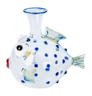 Parrot Fish Glass Decanter
