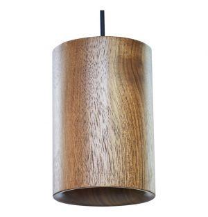 Walnut Cylindrical Pendant Light