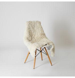 Gotland Sheepskin Throw White