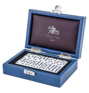 Conran Blue Leather Domino Set