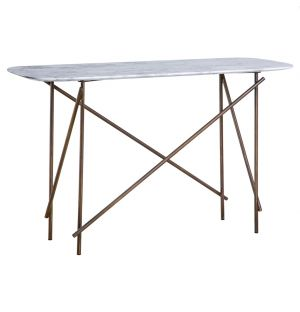 Workshop Console Table Marble Low