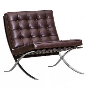 Barcelona Relax Chair Dark Brown Venezia Leather