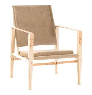 Safari Chair Ash Natural Canvas