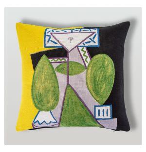 Picasso 'Femme En Vert Et Mauve' Cushion Cover 45cm x 45cm