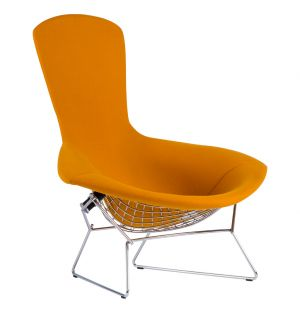 Bird Chair in Hopsack Orange Upholstery