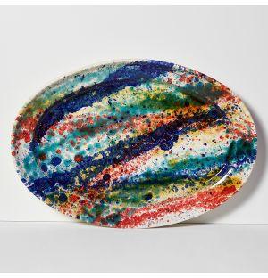 Multi Splatter Oval Platter
