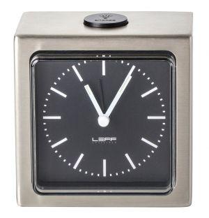 Block Alarm Clock Stainless Steel