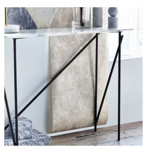 Workshop Console Table Arabescato Marble & Black