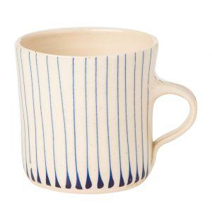 Stripe Breakfast Mug Blue