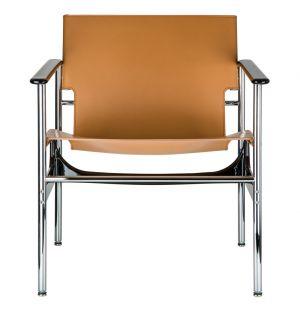 Pollock Lounge Chair Tan Leather
