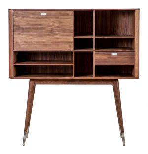 Corian & Walnut Cabinet