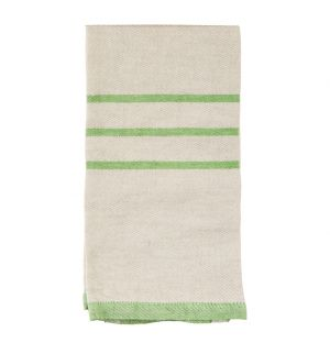 USVA Linen Tea Towel Natural & Green