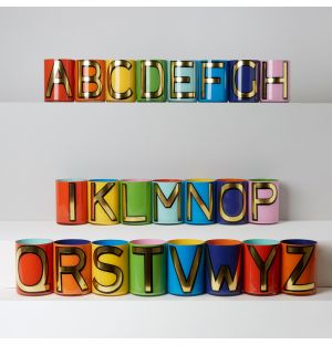 Alphabet Brush Pot