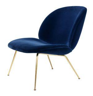 Beetle Lounge Chair Velvet & Brass