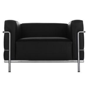 LC3 Armchair Chrome & Black
