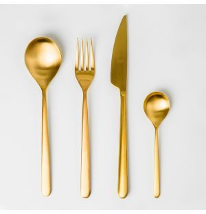 Linea Ice Gold Cutlery Collection