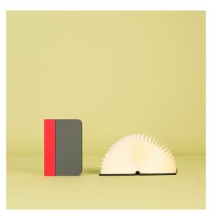 Lumio Book Lamp Mini Grey & Red New Edition
