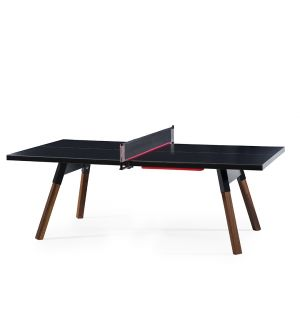 You & Me Outdoor Ping-Pong Table in Black