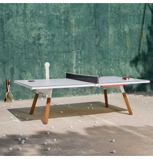 You & Me Outdoor Ping-Pong Table in White