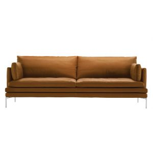 William Sofa Leather & Extra Cushions 3-Seater