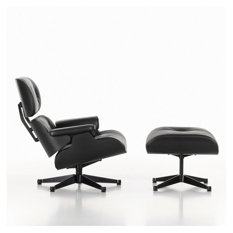Classic Eames Lounge Chair Ottoman All Black By Vitra At The Conran Shop