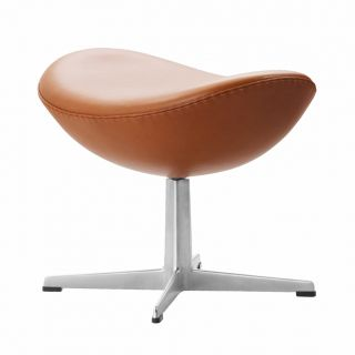 Egg Ottoman in Grace Leather